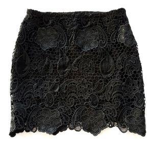 ⭐NEW⭐ Macy's Impulse - Floral Lace Mini Skirt